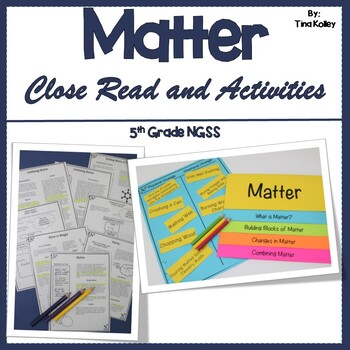 Science of Matter A Close Reading Activity
