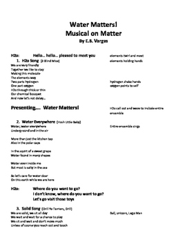 Science of Matter in Song
