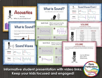 Science of Sound Unit: Music & Science Lesson, Presentation, Experiements - 4th