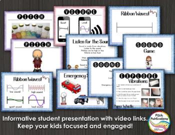 Science of Sound Unit 1st Grade: Plans, Presentation, Experiments, & Assessment
