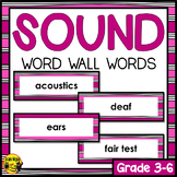 Sound Word Wall Words- Editable