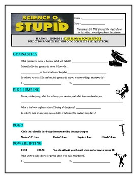 Science of Stupid : Flip-Flops & Power Surges (video worksheet)