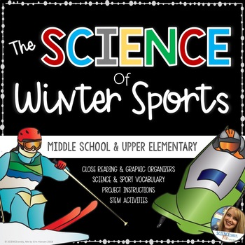 Science of Winter Sports - Middle School Physics STEM - Sledding - Curling- Ski
