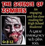 Science of Zombies - Activity & Sub Plan   Print & Distanc