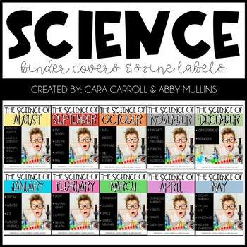 Science of the Month Binder Covers & Spine Labels