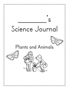 Science plants and animals journal cover
