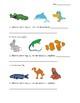 Science quiz animal classification