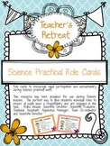 Science role description cards for group work