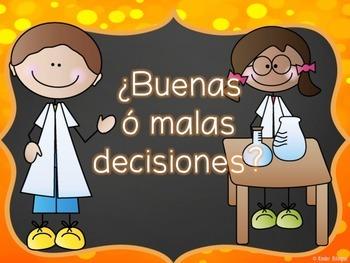 Science rules game in Spanish (Juego de reglas de ciencias)