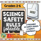 Science safety rules foldable