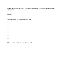 Science skills assessment