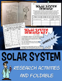 Science solar system gravity celestial bodies interactive ntbk foldable research