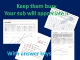 Science sub worksheet - 2 days Emergency plans