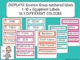 Science themed number and equipment labels