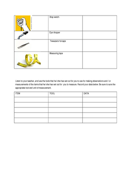 Science tools assessment and practice
