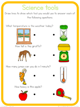 Science tools circle time questions