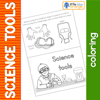 Science tools coloring booklet