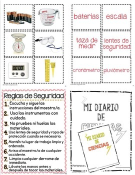 Science tools in Spanish and English for dual language / bilingual