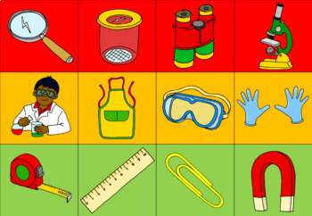 Science tools matching activity