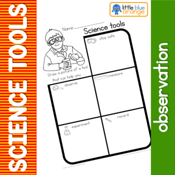 Science tools observation sheet