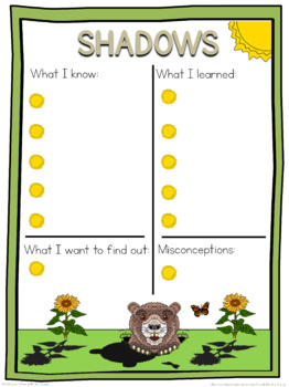 Shadows schema  worksheet
