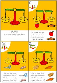 Science tools task card activity