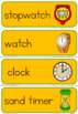 Science tools word wall