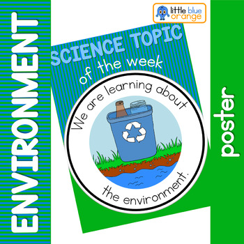 Science topic of the week poster - Environment