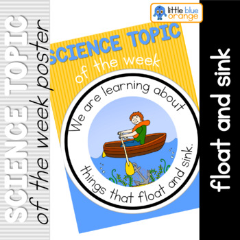 Science topic of the week poster - Float and sink