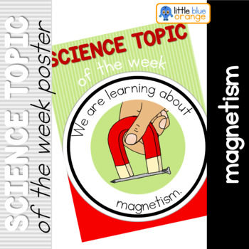 Science topic of the week poster - Magnetism
