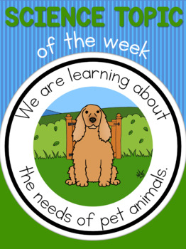 Science topic of the week poster - Pet needs