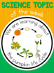 Science topic of the week poster - Pumpkin life cycle