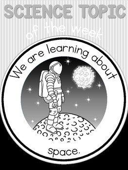 Science topic of the week poster - Space