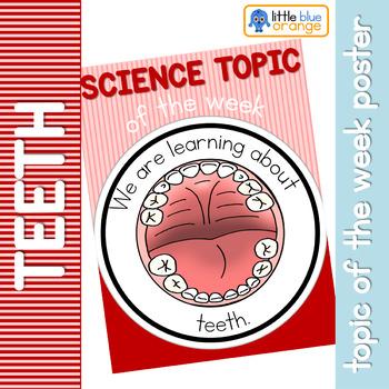 Science topic of the week poster - Teeth