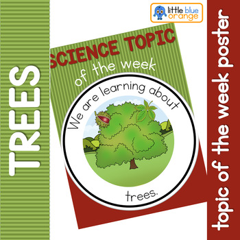 Science topic of the week poster - Types of trees
