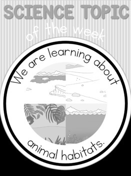 Science topic of the week poster - animal habitats