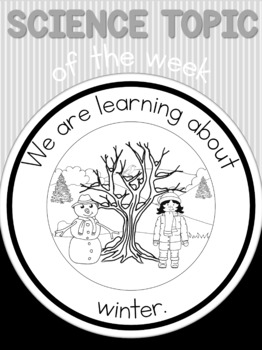 Science topic of the week poster - Winter