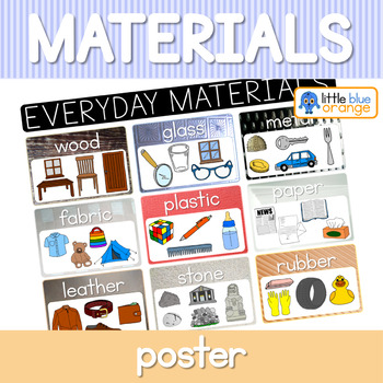 everyday materials and their properties posters by little blue orange