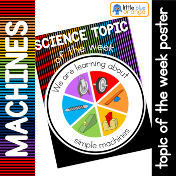Science topic of the week poster - simple machines