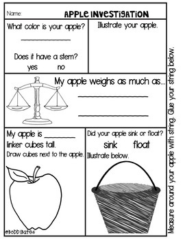 Science with Apples Mini Unit