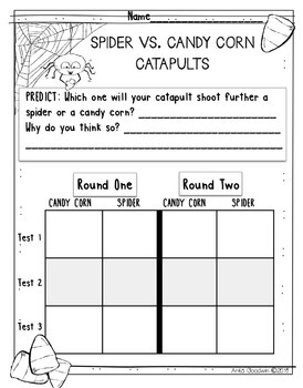 Science with Catapults- Spiders vs. Candy Corn