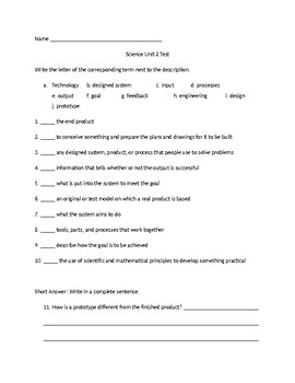 ScienceFusion Grade 4 Unit 2 Test, Review, and Answer Key