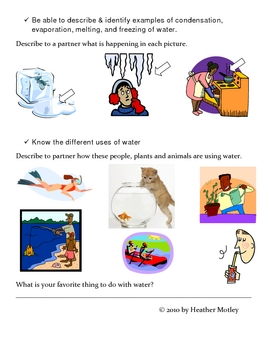 Science:Matter Assessment and Study Guide: Solids, Liquids and Gases