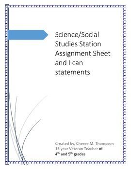 Science/Social Studies Station Activity Grade 4
