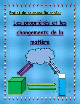 Sciences 5e année: la matière/ Grade 5 Science: Matter