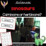 Sciences - Dinosaurs (Herbivore or Carnivore)