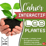 Sciences en Francais: Le Cycle de vie des plantes // Cahier Interactif FRENCH