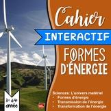 Sciences en Français: FRENCH  Les Formes d'énergie // Cahi