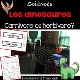 Sciences - Les dinosaures (Herbivores ou Carnivores)