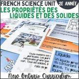 Sciences - Les propriétés des liquides et des solides